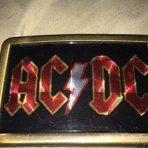 "AC/DC belt buckle 2.5""x4"""